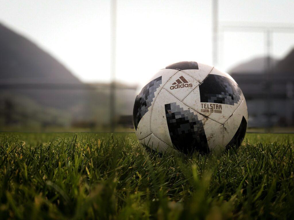 soccer ball in an empty field