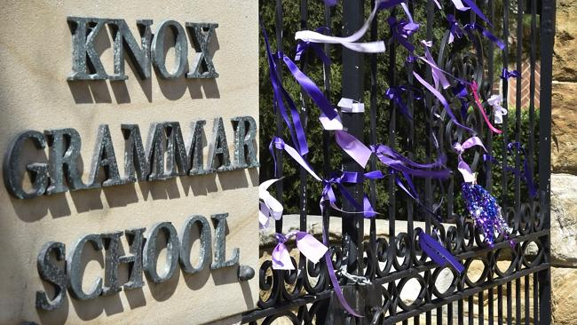 The front gates of Knox Grammar School