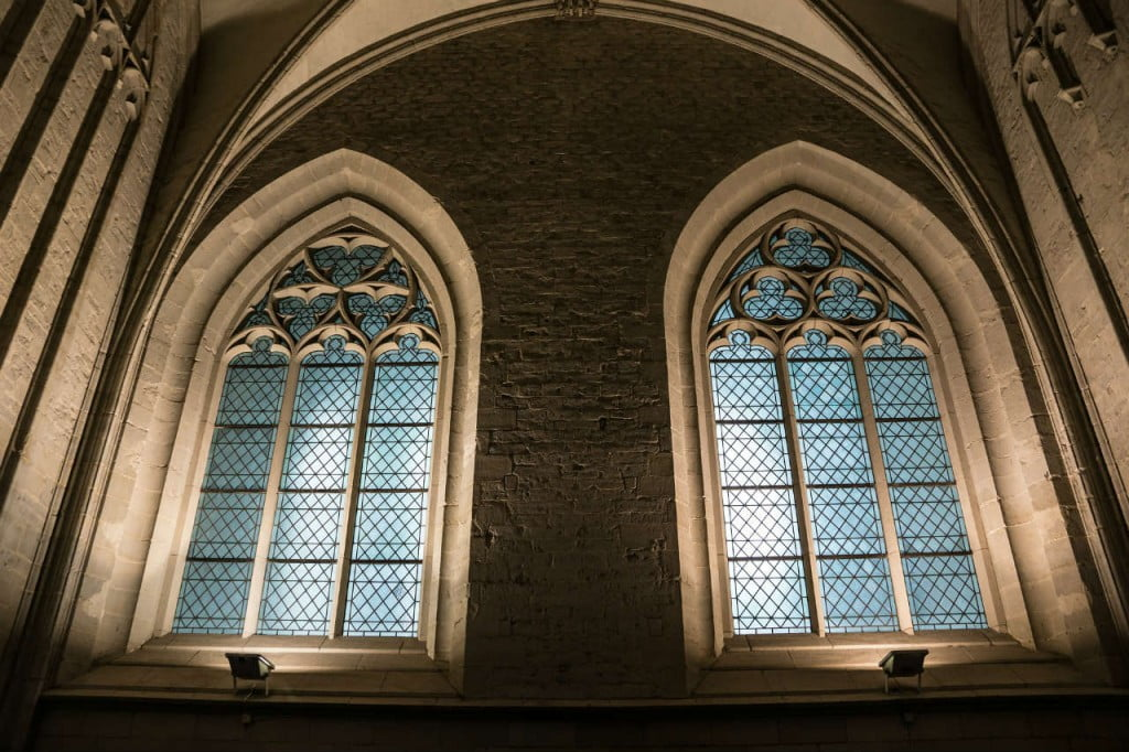 Large windows in church