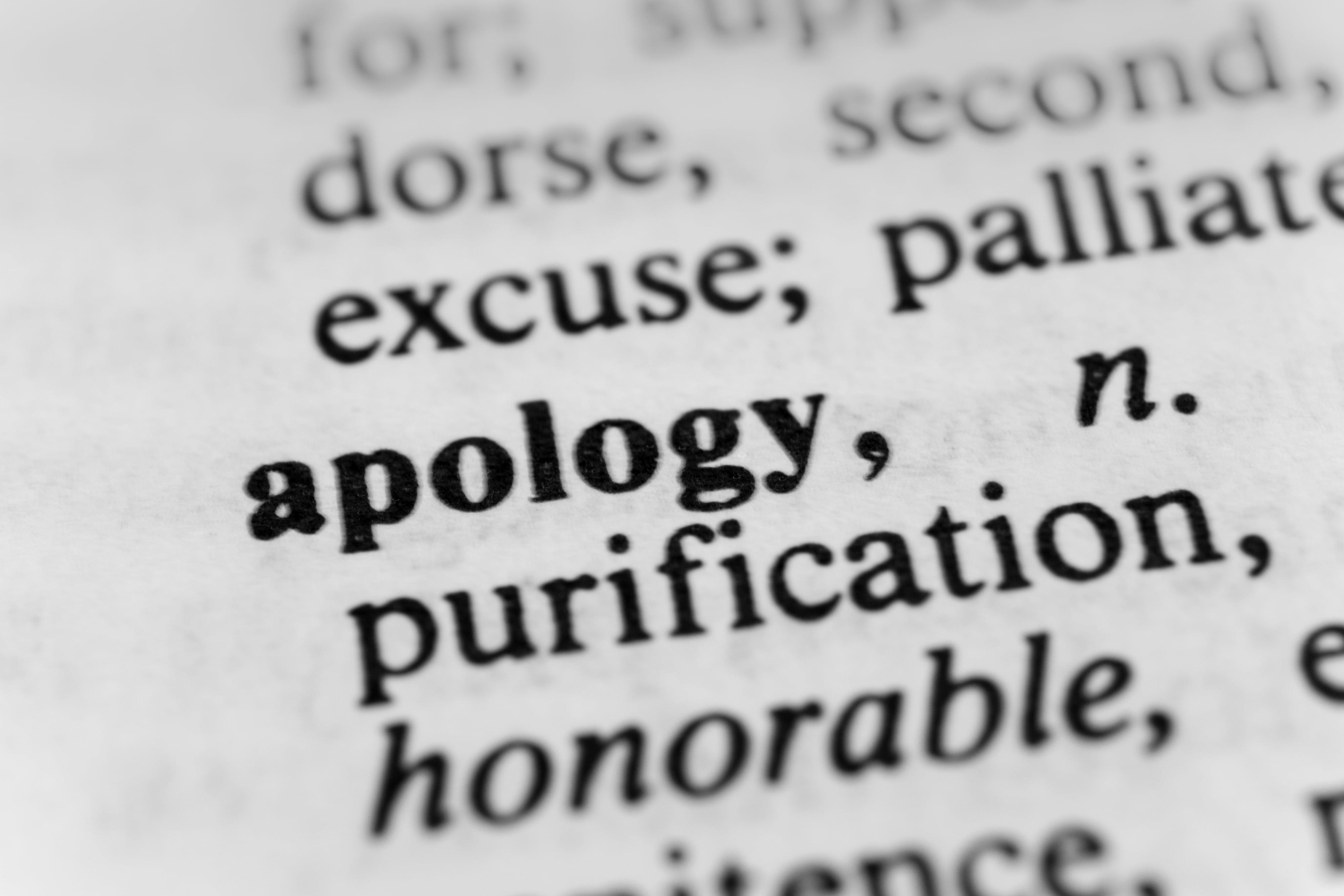 Apology-description