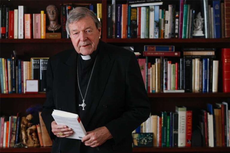 george pell in a library
