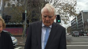Keith Allen leaving Newcastle courthouse