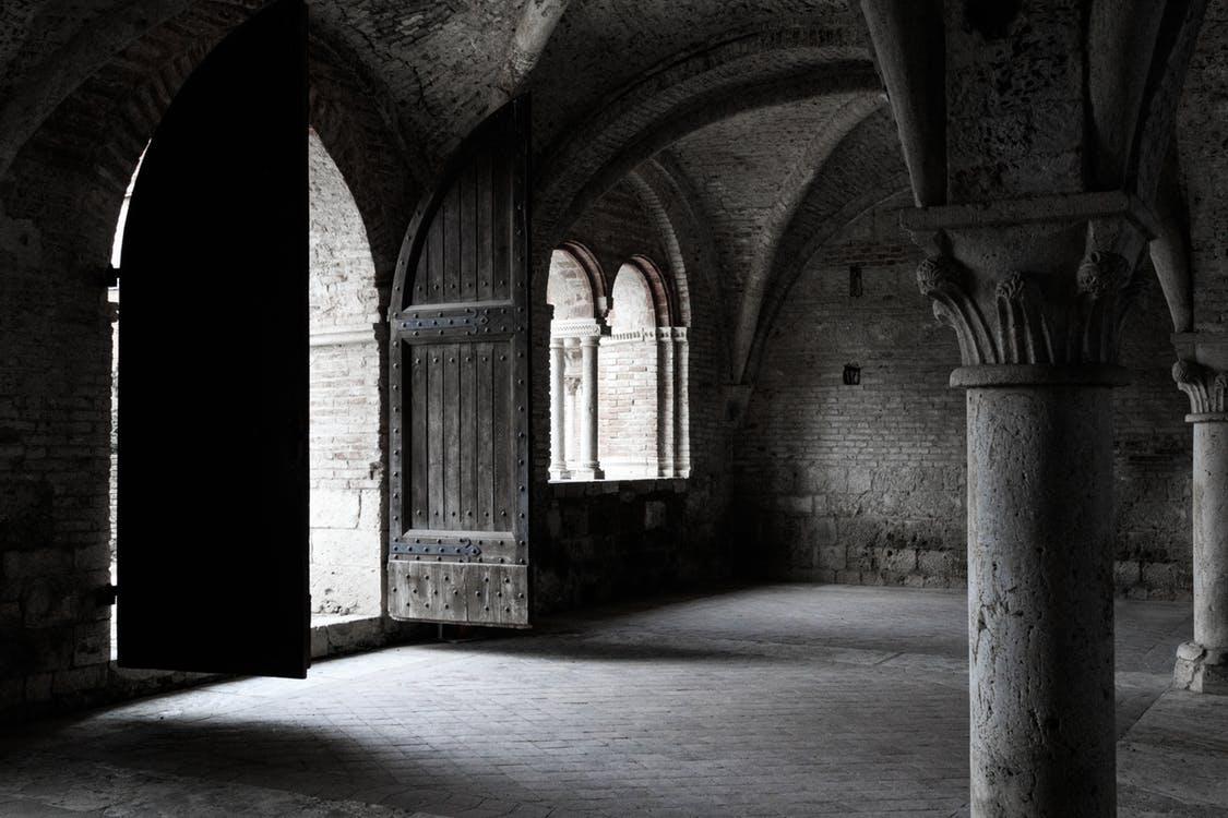 a shadowy church