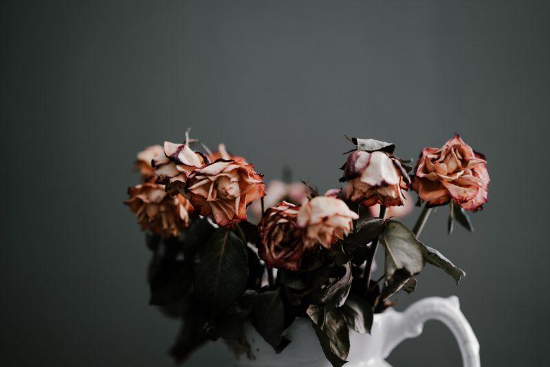 Flowers breaking down