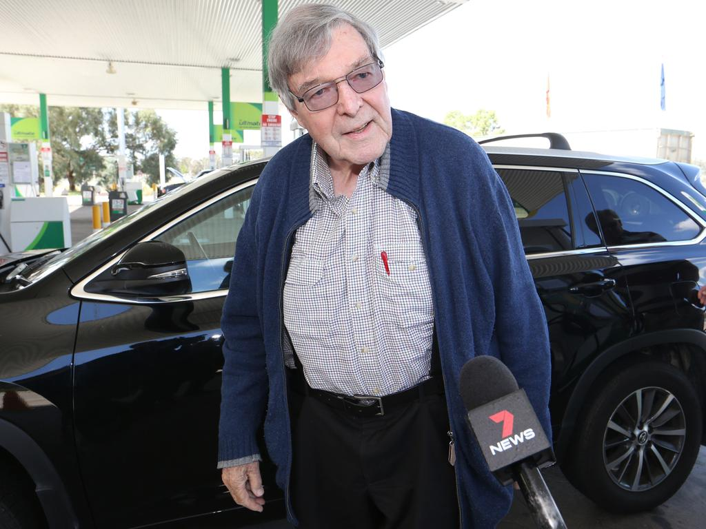 george pell flees to sydney