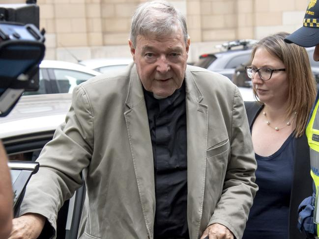 george pell leaving court