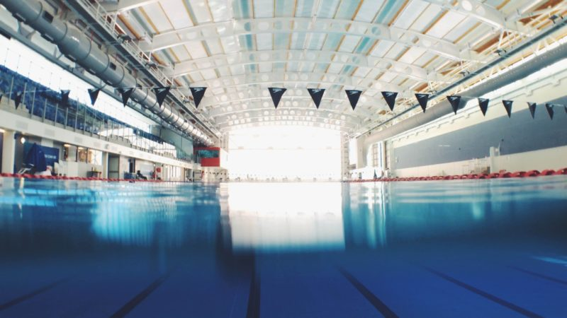 empty olympic swimming pool