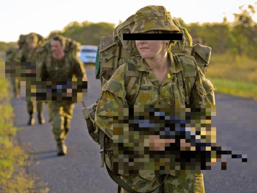 female soldier adf