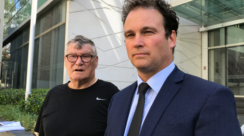 john lawrence with his lawyer